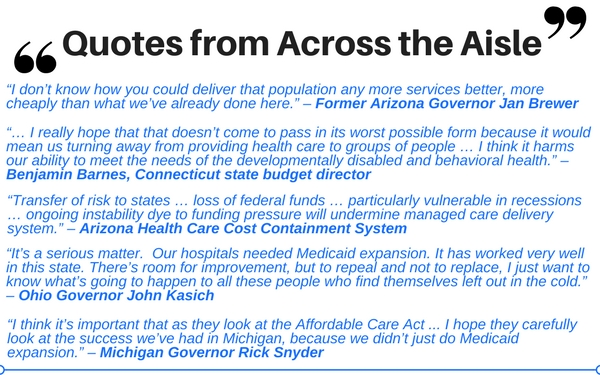 Quotes on State Budgets and the ACA