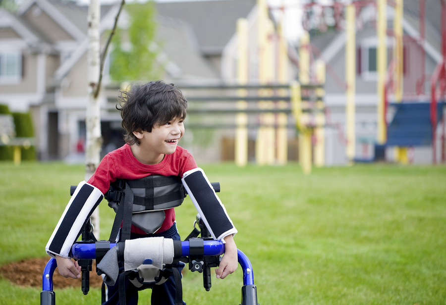 boy with disabilities