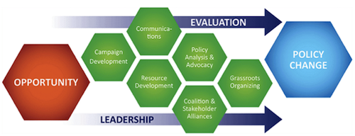 system of advocacy graphic